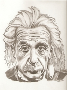 Albert Einstein por RobCrandall